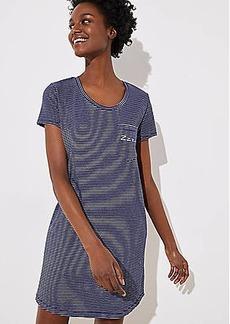LOFT Striped Pajama Tee Dress