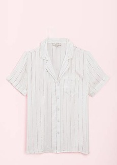 LOFT Shimmer Striped Pajama Top