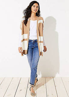 LOFT Striped Poncho Cardigan