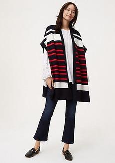 LOFT Striped Poncho Sweater