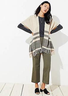 LOFT Striped Poncho Wrap