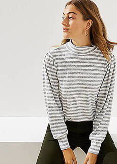 LOFT Striped Puff Long Sleeve Top