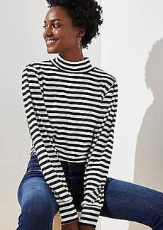 LOFT Striped Puff Long Sleeve Top