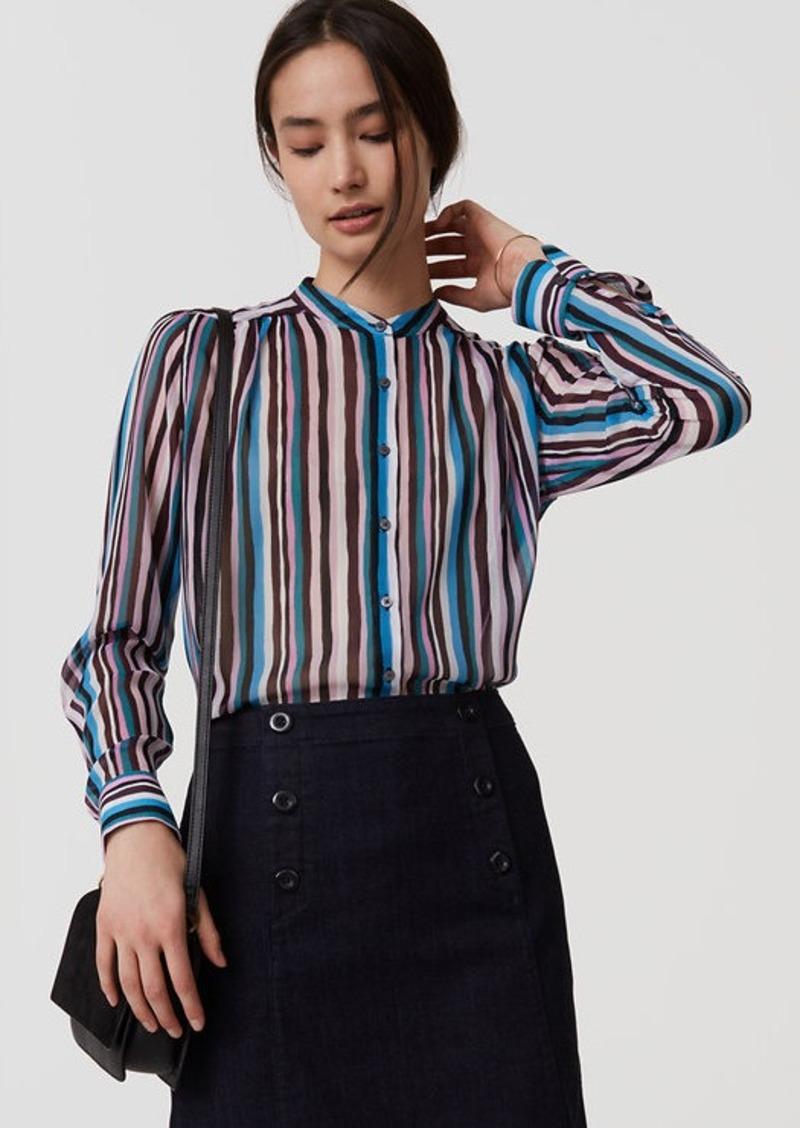 dc696c0a LOFT Striped Puff Sleeve Blouse | Casual Shirts