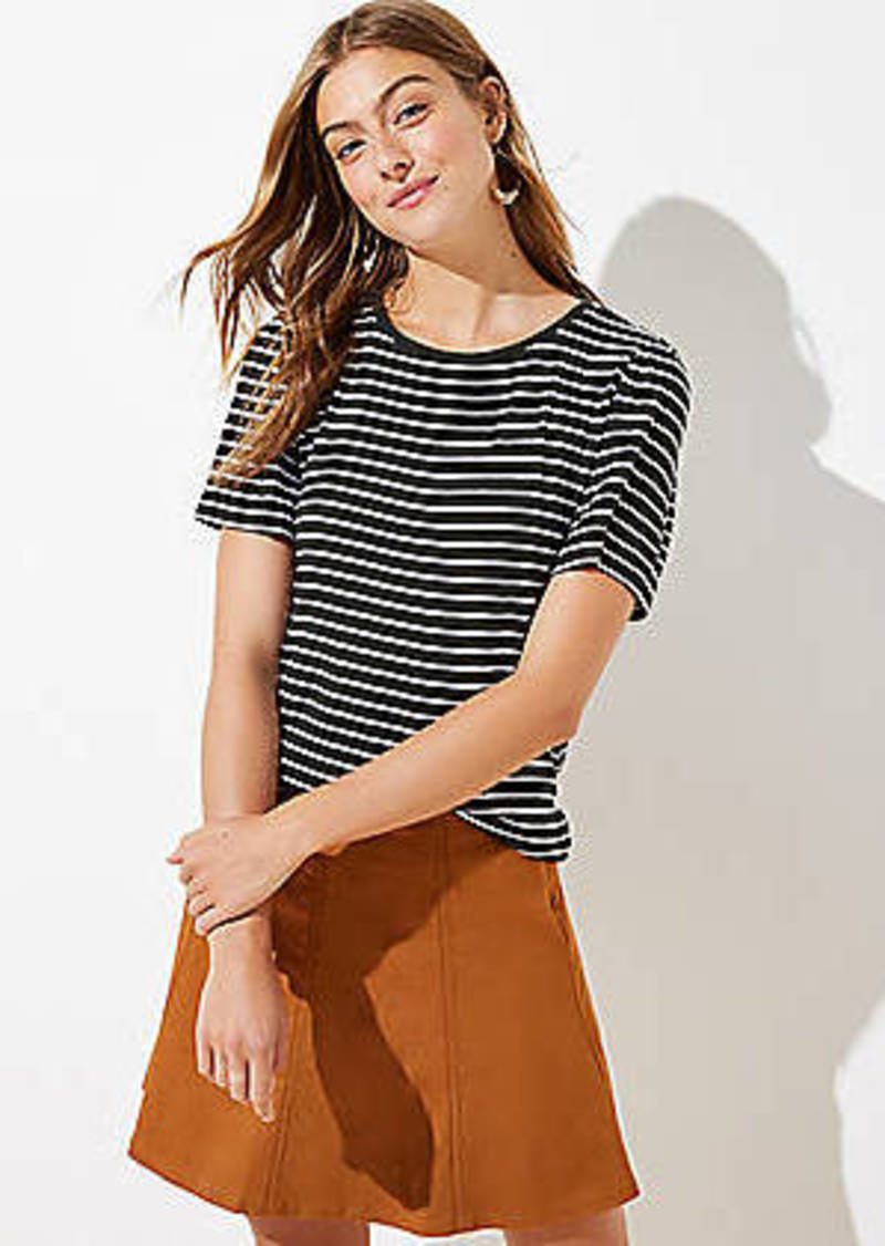 LOFT Striped Puff Sleeve Tee