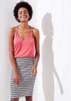 LOFT Striped Pull On Pencil Skirt