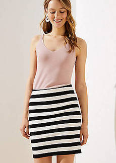 LOFT Striped Pull On Pencil Skirt