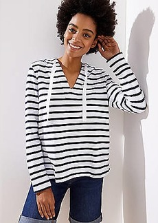 LOFT Striped Pullover Hoodie