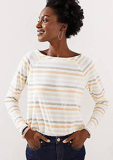 LOFT Striped Raglan Long Sleeve Tee