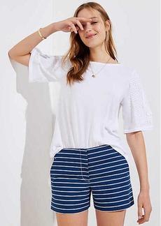 LOFT Striped Riviera Shorts