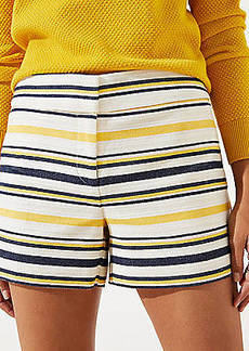 LOFT Striped Riviera Shorts with 4 Inch Inseam
