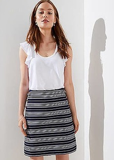 LOFT Striped Sailor Pocket Shift Skirt