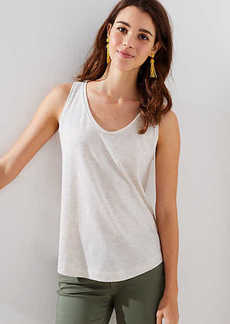 LOFT Striped Scoop Neck Tank