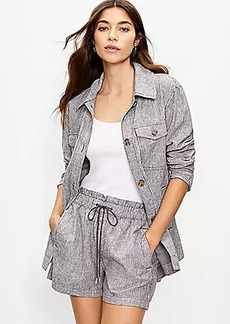LOFT Striped Shirt Jacket