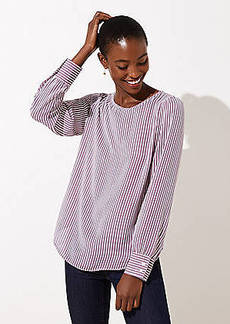 LOFT Striped Shirttail Blouse