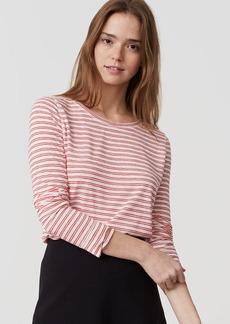 Striped Shirttail Layering Tee