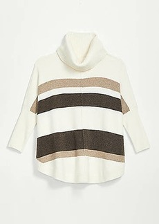 LOFT Striped Shirttail Poncho Sweater
