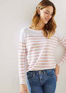 LOFT Striped Shirttail Sweater