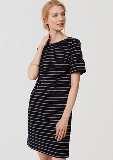 Striped Short Bell Sleeve Dress
