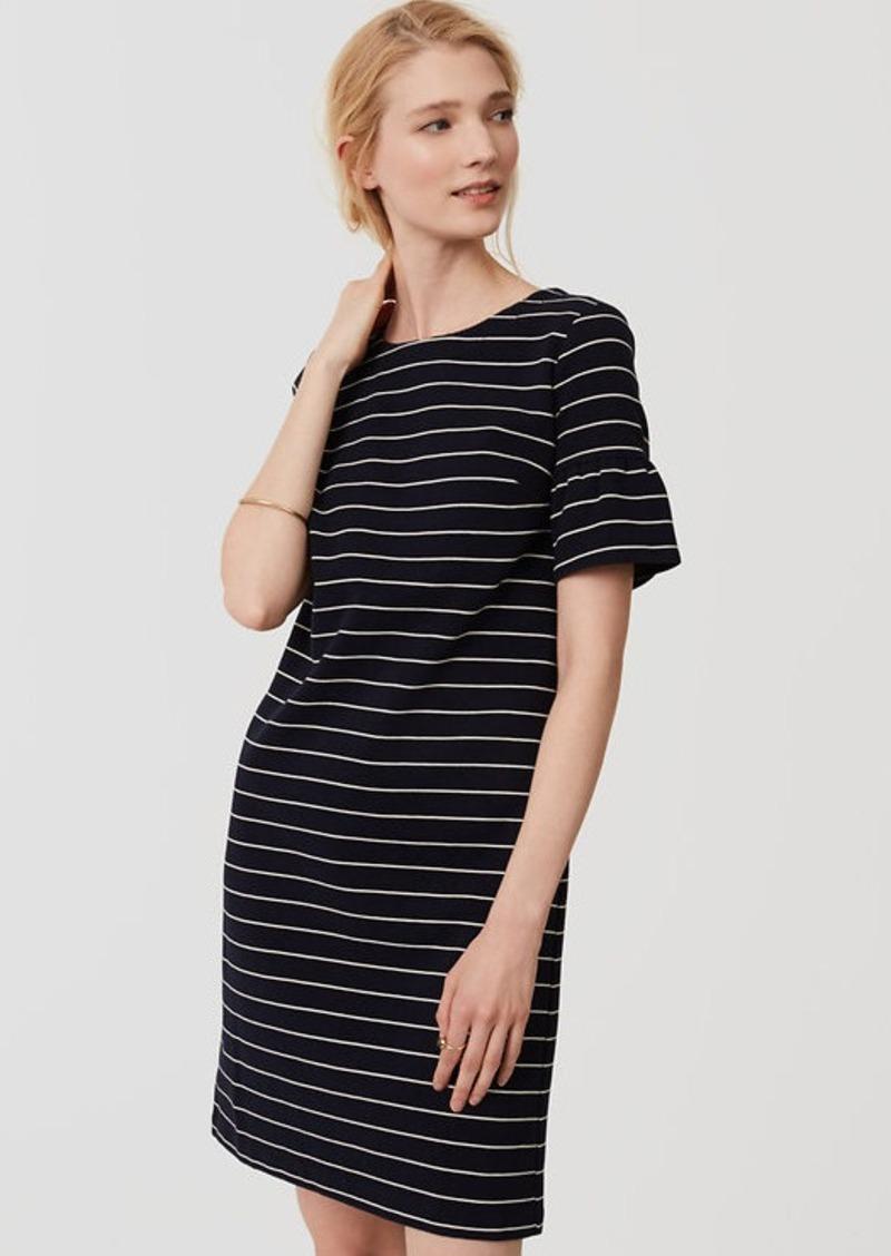 LOFT Striped Short Bell Sleeve Dress | Dresses