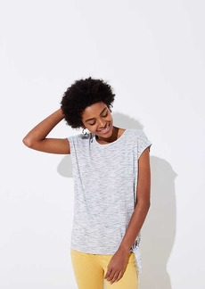 LOFT Striped Side Tie Tee