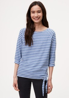 Striped Side Tie Top