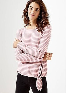 LOFT Striped Side Tie Tunic Top