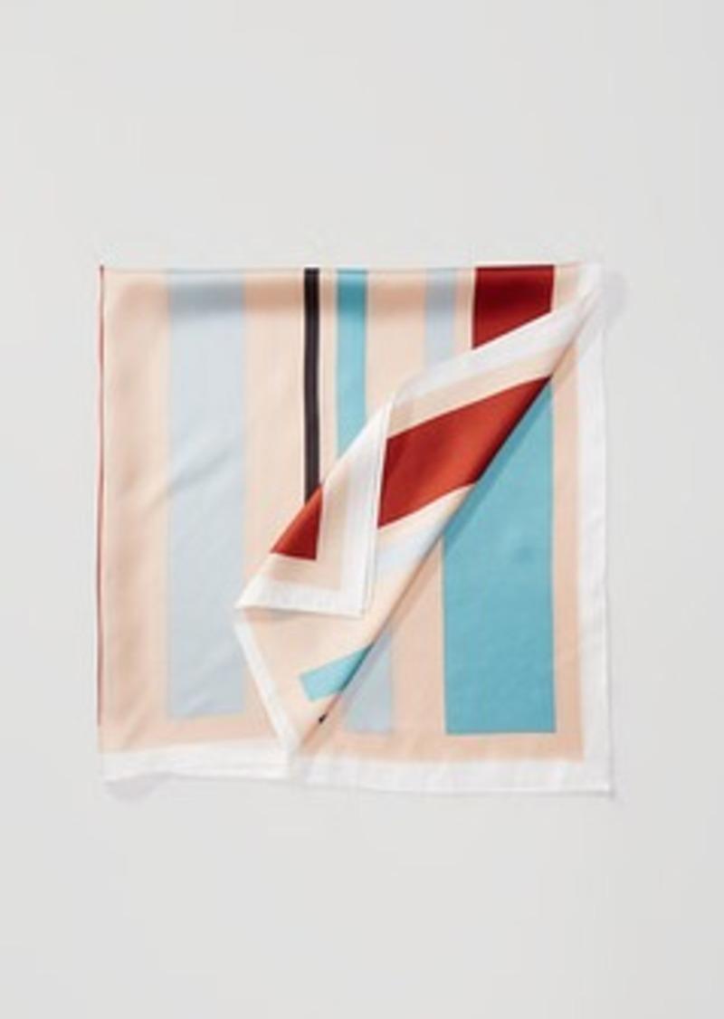 LOFT Striped Silk Scarf
