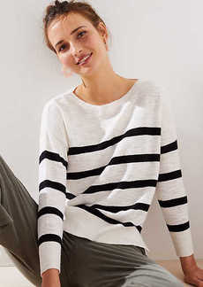 LOFT Striped Slouchy Sweater