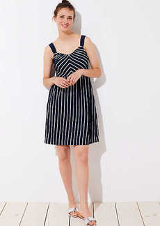 LOFT Striped Strappy Flare Dress