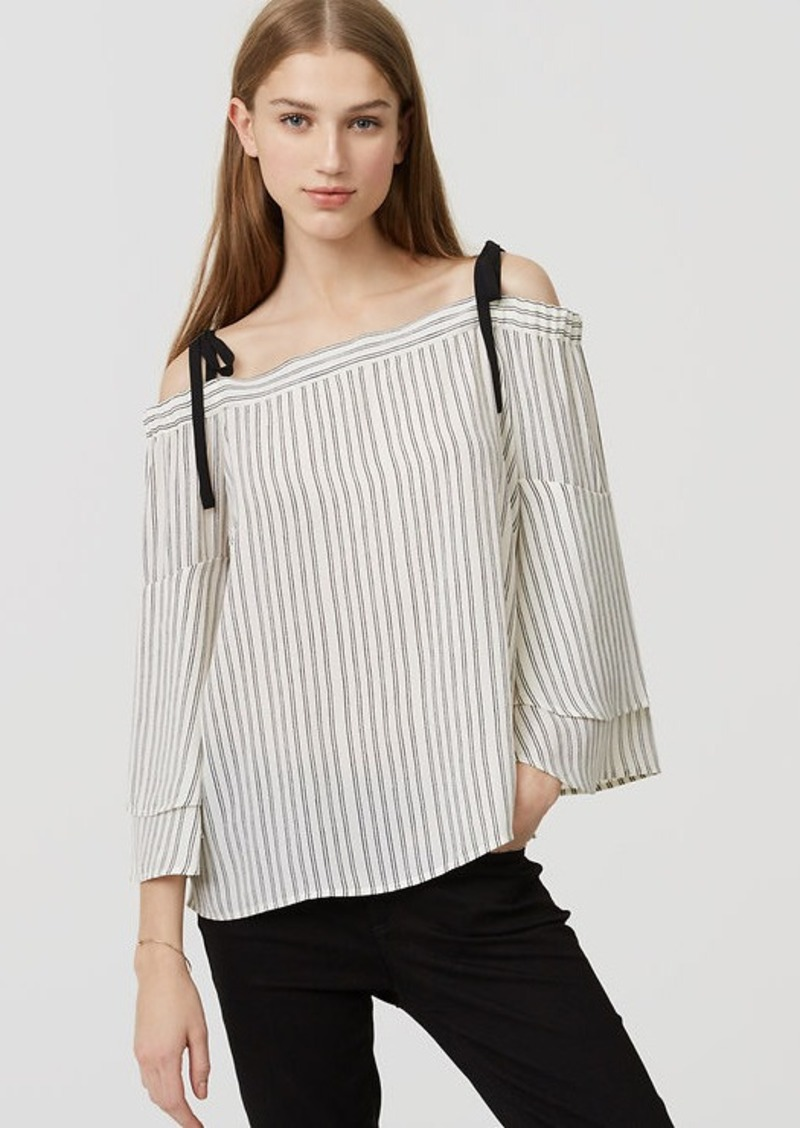 c9be45289fd3b LOFT Striped Strappy Off The Shoulder Blouse
