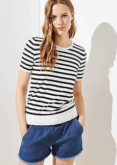 LOFT Striped Sweater Tee