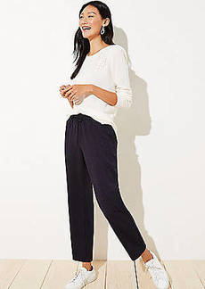 LOFT Striped Tapered Jogger Pants