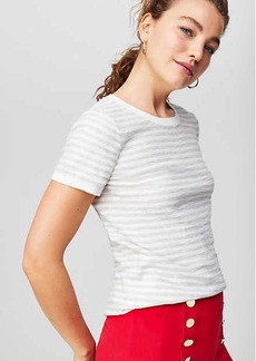 LOFT Striped Textural Sweater Tee