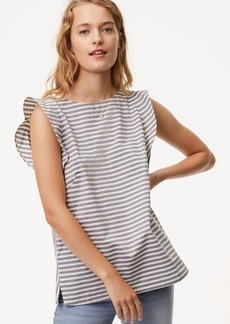 Striped Tie Back Flutter Top