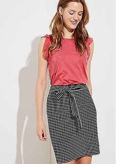 LOFT Striped Tie Waist Pencil Skirt