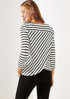 LOFT Striped Tulip Back Sweatshirt