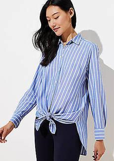 LOFT Striped Tunic Shirt
