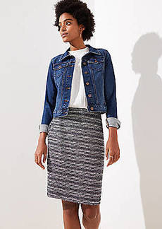 LOFT Striped Tweed Pencil Skirt