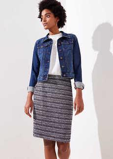 LOFT Striped Tweed Pencil Skirt