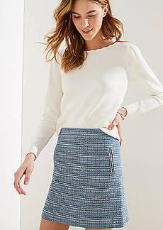 LOFT Striped Tweed Shift Skirt