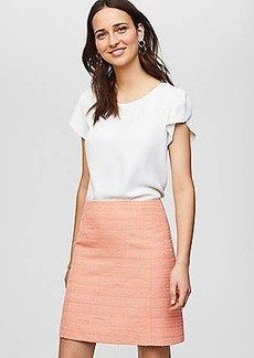 LOFT Striped Tweed Skirt
