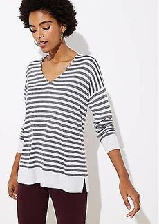 LOFT Striped V-Neck Sweater