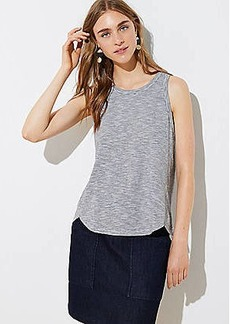 LOFT Striped Vintage Soft Shirttail Tank