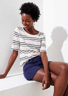 LOFT Striped Vintage Soft Shirttail Tee