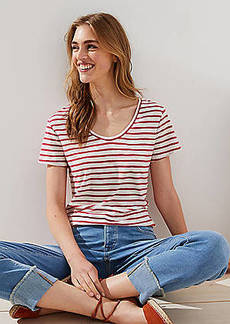 LOFT Striped Vintage Soft Tee