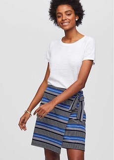LOFT Striped Wrap Skirt
