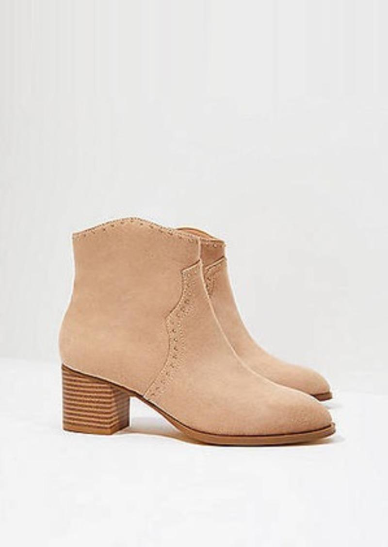 LOFT Studded Block Heel Ankle Boots