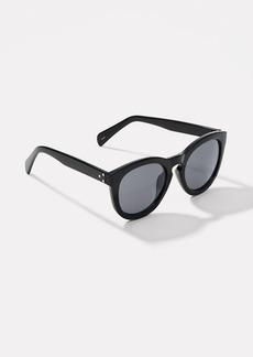 Studded Round Keyhole Sunglasses
