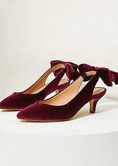 LOFT Studded Velvet Slingback Heels